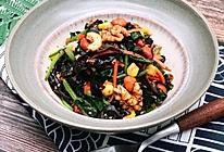 凉拌八宝菠菜的做法