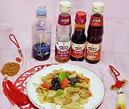 #味达美名厨福气汁,新春添口福#陕菜经典~莲菜炒肉的做法