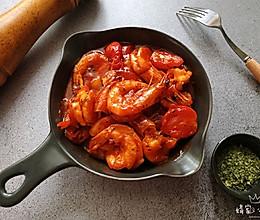 家常茄汁大虾#硬核菜谱制作人#的做法