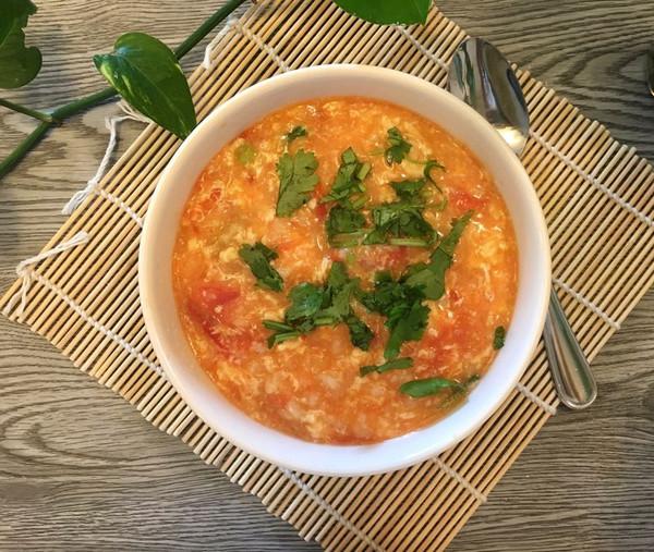 【番茄鸡蛋疙瘩汤】暖胃美食