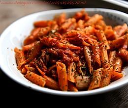 韩国泡菜火腿斜管面的做法
