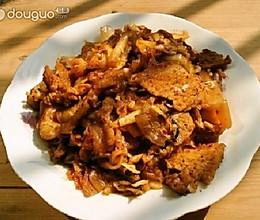 辣白菜五花肉大杂炒的做法