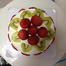 6寸戚风水果奶油蛋糕