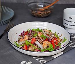 虾仁杂蔬藜麦沙拉的做法