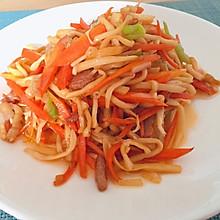 胡萝卜炒酸笋