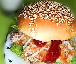 早餐在家吃---香辣鸡腿汉堡的做法