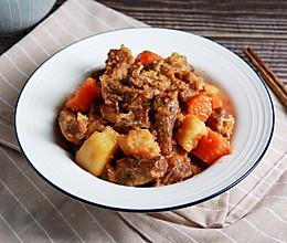 健康低卡家常菜——无油土豆炖牛肉的做法