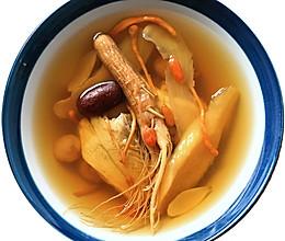 人参虫草花红枣鸡汤的做法