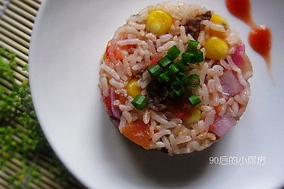 番茄牛肉炒饭