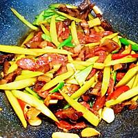 腊肠腊肉炒芥蓝梗的做法图解10