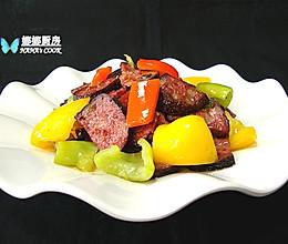 湖南特色:辣炒猪血丸子的做法