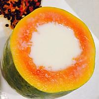 牛奶木瓜布丁冻的做法图解5