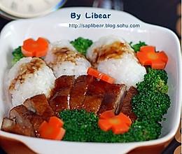 鲜蔬鸭肉饭的做法