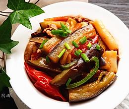 简单易做-蚝油茄子年糕煲#舌尖上的外婆香#的做法