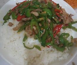 好吃的青椒肉丝盖饭的做法
