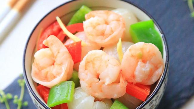 荔枝虾仁#美的微波炉菜谱#的做法