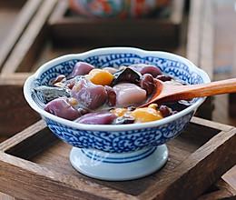 红豆芋圆烧仙草的做法