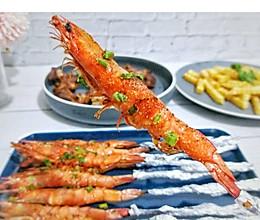 家常烤箱版烤虾串#快手又营养,我家的冬日必备菜品#的做法