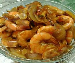洋葱炒大虾的做法
