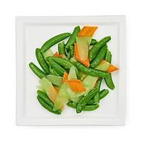 芥兰甜豆胡萝卜 的做法图解2