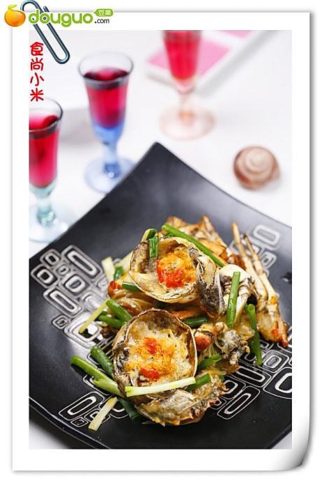 姜葱炒蟹的做法