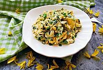 素食记~韭菜虾皮炒鸡蛋的做法