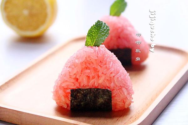 蔓越莓樱花爆浆饭团的做法