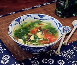 番茄蔬菜鸡蛋汤的做法
