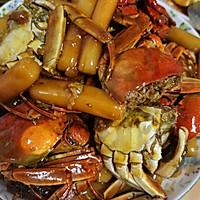 螃蟹炒年糕的做法图解8