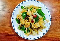 花菜炒尖椒的做法