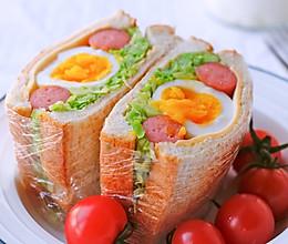 包菜全蛋三明治#今天吃什么#的做法