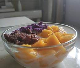 芒果红豆紫薯酸奶捞的做法