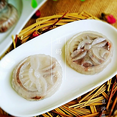 【豆沙晶饼】——弹性嚼劲,有香甜,简单速成的早餐或者餐间小点