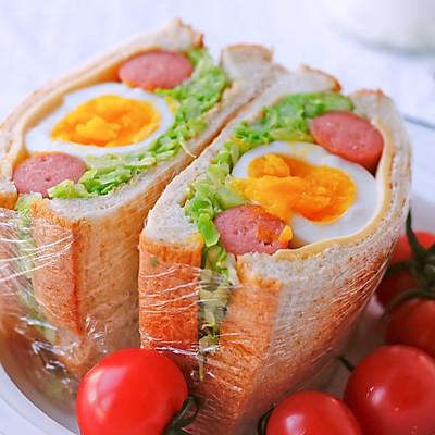 包菜全蛋三明治