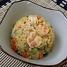 鲜虾咖喱炒饭的做法图解7