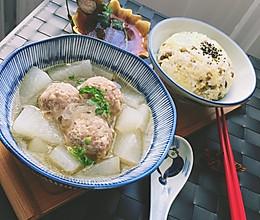 春季去火正当时之冬瓜肉丸汤+杂粮饭的做法