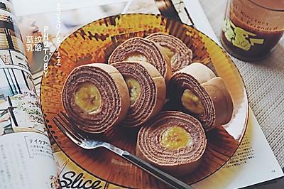 巧克力香蕉年轮松糕