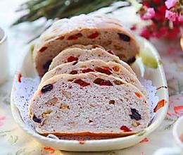 健康全麦蔓越莓碧根果软欧的做法