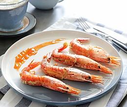 香草蒜香红虾(烤箱版)的做法