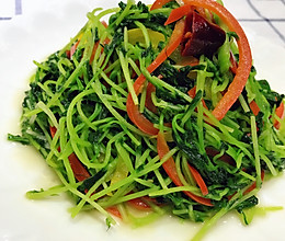 素炒绿豆苗的做法