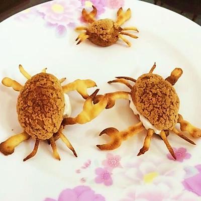 原创螃蟹泡芙:螃蟹吐泡泡