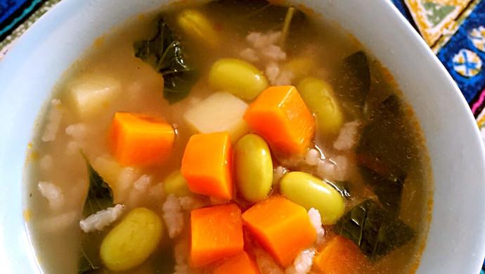 营养早餐粥-宝宝蔬菜米粥