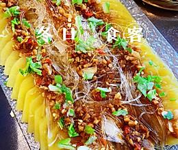 蒜蓉菜系的—五花肉蒸土豆片的做法