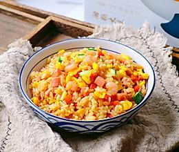 #今天吃什么#虾仁火腿蛋炒饭的做法