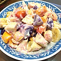 紫薯杂果沙拉