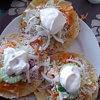墨西哥玉米饼沙拉  taco tostadas的做法图解7