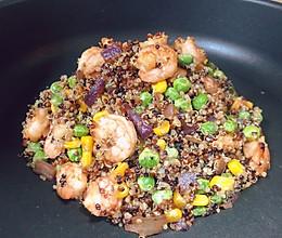 虾仁藜麦饭的做法