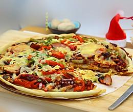 圣诞火腿披萨的做法