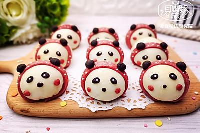 熊貓麻薯蛋黃酥,Q彈軟糯,好吃到飛起~