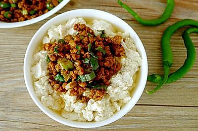 营养早餐~肉末水豆腐